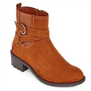 Cognac Ankle Boot with Memory Foam NEW